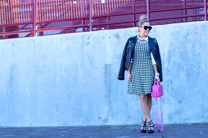 h&m houndstooth dress 2014